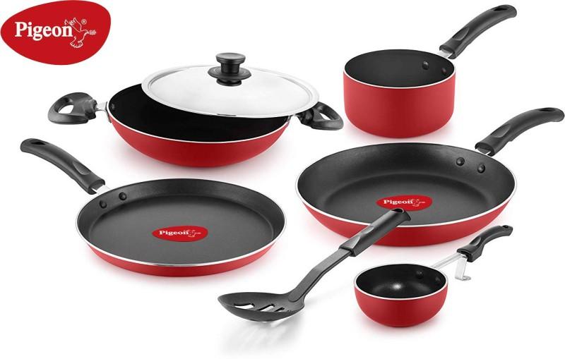 Pigeon Non- stick cookware- Favourite 7Pcs Gift set Cookware Set(Aluminium, 7 - Piece)
