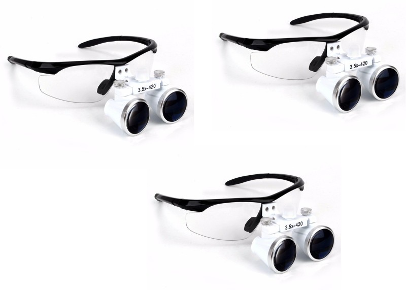 Galaxy Loupes 3.5 X With Plastic Frame (Led Head Light ) pack_3 Simple Loupe(Dental)