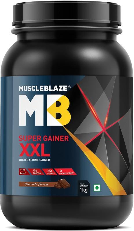 MuscleBlaze Super Gainer XXL Weight Gainers/Mass Gainers(1 kg, Chocolate)