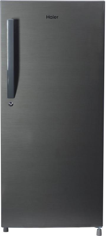 Haier 195 L Direct Cool Single Door 5 Star (2019) Refrigerator(Brushline Silver, HRD-1955CBS-E)