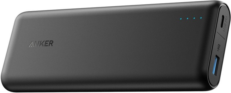 Anker 20000 mAh Power Bank (A1275H11, PowerCore Speed 20000 Portable Charger)(Black, Lithium-ion)