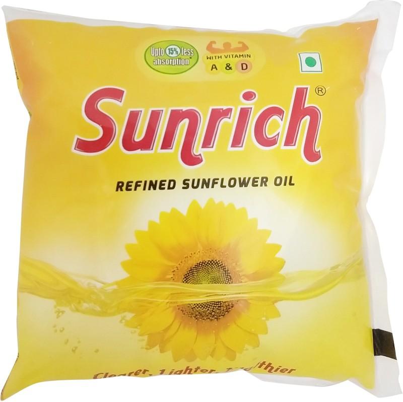 Sunrich Refined Sunflower Oil Pouch(500 ml)