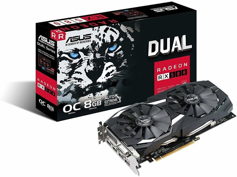 Asus AMD/ATI Radeon RX 580 8GB 8 GB GDDR5 Graphics Card