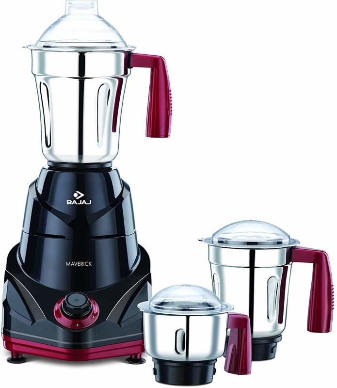 Bajaj 410513 Maverick Mixer Grinder 750 Mixer Grinder(Black, 3 Jars)