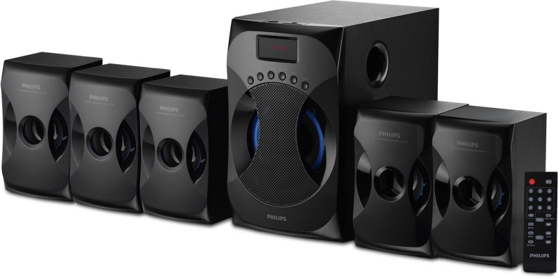 Philips SPA4040B/94 45 W Bluetooth Home Audio Speaker(Black, 5.1 Channel)