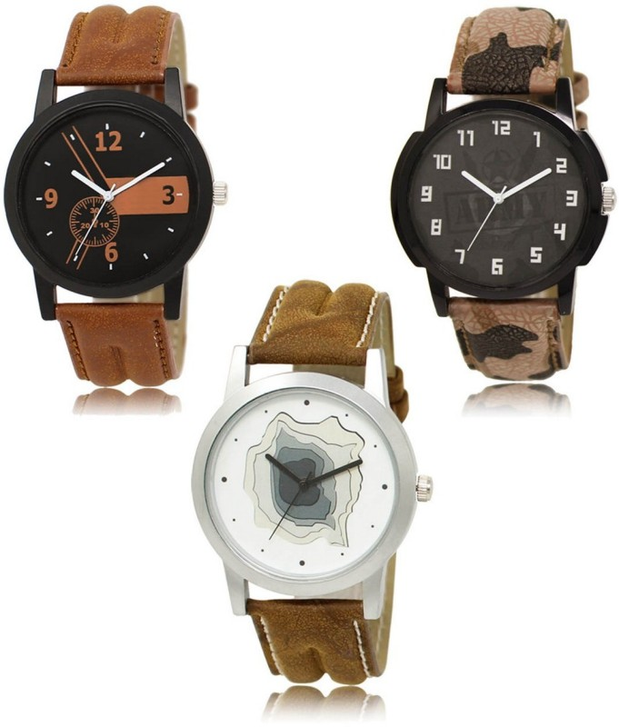 FASHION POOL 01_03_09 DESIGNER LEATHER BELT WATCH FAST SELLING TRACK DESIGNER LEATHER BELT WATCH FESTIVAL_PARTY_DIWALI_VALENTINE SPECIAL COMBO WATCH Analog Watch - For Men