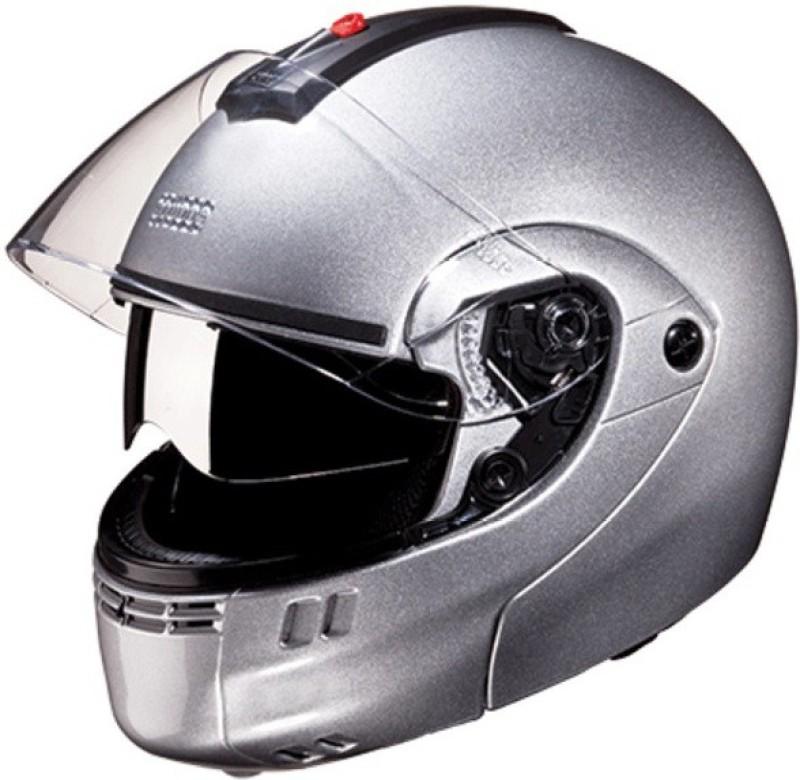 Studds Ninja 3G D/V Motorbike Helmet(Silver Grey)