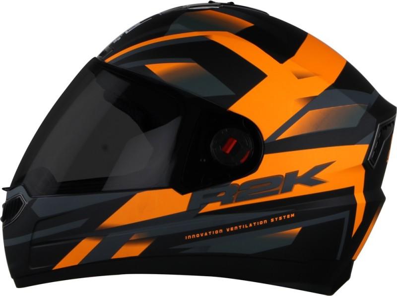 Steelbird AIR SBA-1 R2K Motorbike Helmet(Matt Black/Orange with Smoke Visor)