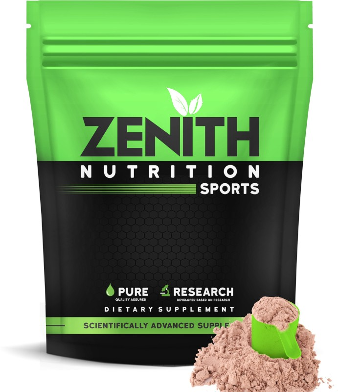 Zenith Nutrition Mass Gainer++ with Enzyme|17g Protein|51g Carbs -750gms(Double Rich Chocolate) Weight Gainers/Mass Gainers(750 g, Double rich chocolate)