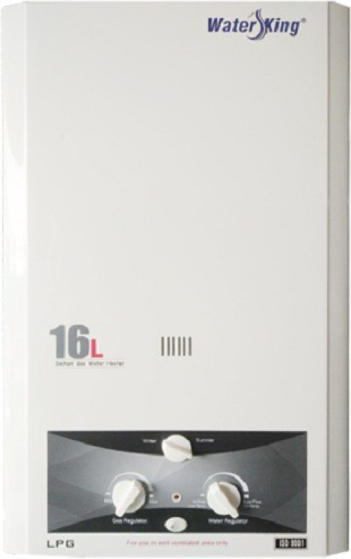 WATER KING 16 L Gas Water Geyser (16L Instant Gas Water Heater, White)