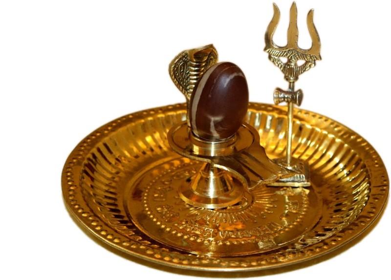 Bansiwal pooja_thali_set Brass(1 Pieces, Gold)