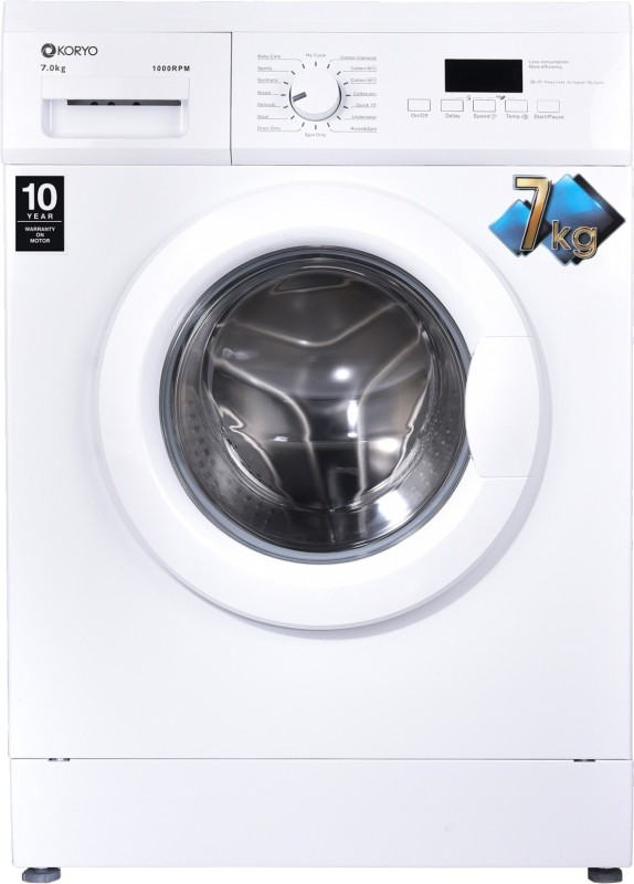 Koryo 7 kg Fully Automatic Front Load with In-built Heater White(KWM1272FL)