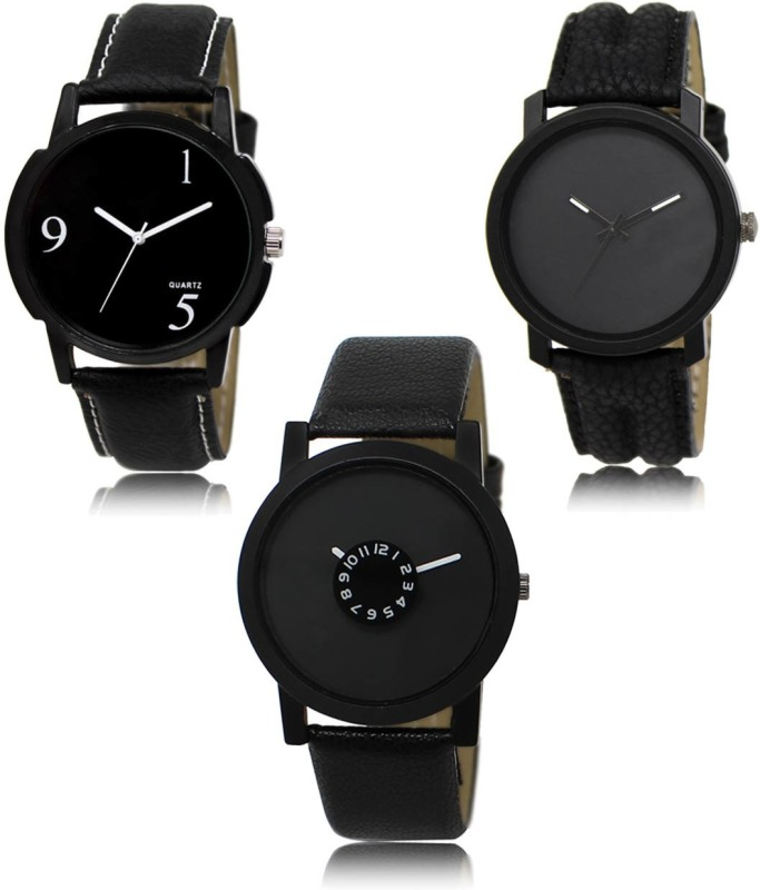 Loretta Collection Set Of 3 ML-06-21-25 Combo Analog Watch  - For Men