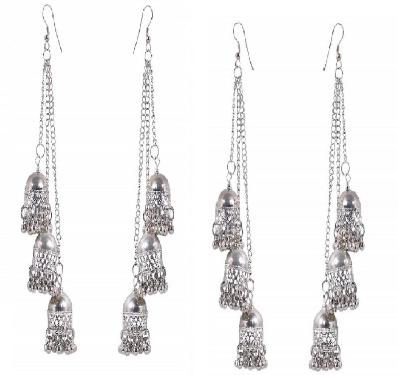 Humsafar Fast selling sexy silver earring White Metal Jhumki Earring