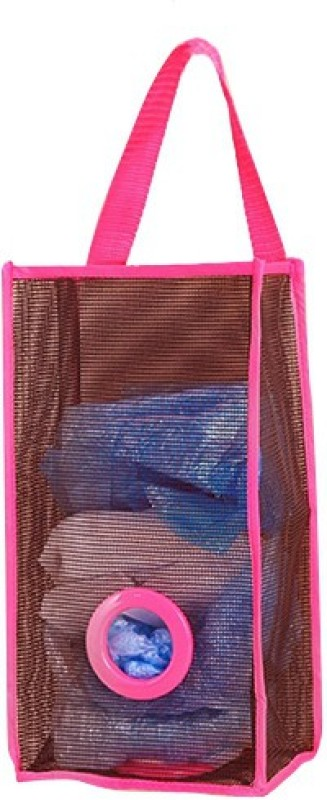 Nema Kitchen Garbage/Shopping Bag Organiser -Rose Red Medium 5 L Garbage Bag