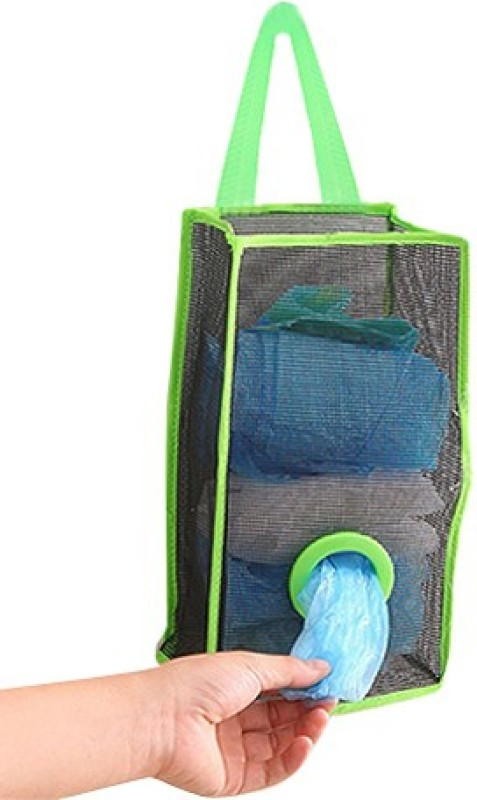 Nema Kitchen Garbage/Shopping Bag Organiser - Green Medium 5 L Garbage Bag