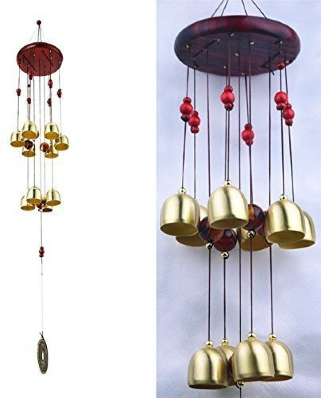 Sanol Lovely Metal Bell Wind Chimes For Home Decoration Feng Shui Wind Chime Wooden Wind Chimes For Home In Windchimes Shanol Iron Plastic Wood Windchime 22 Inch Multicolor Buy Online In Austria At