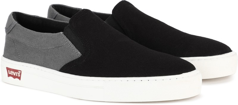 Levi's ATHENS Canvas Shoes For Men(Black, Grey)