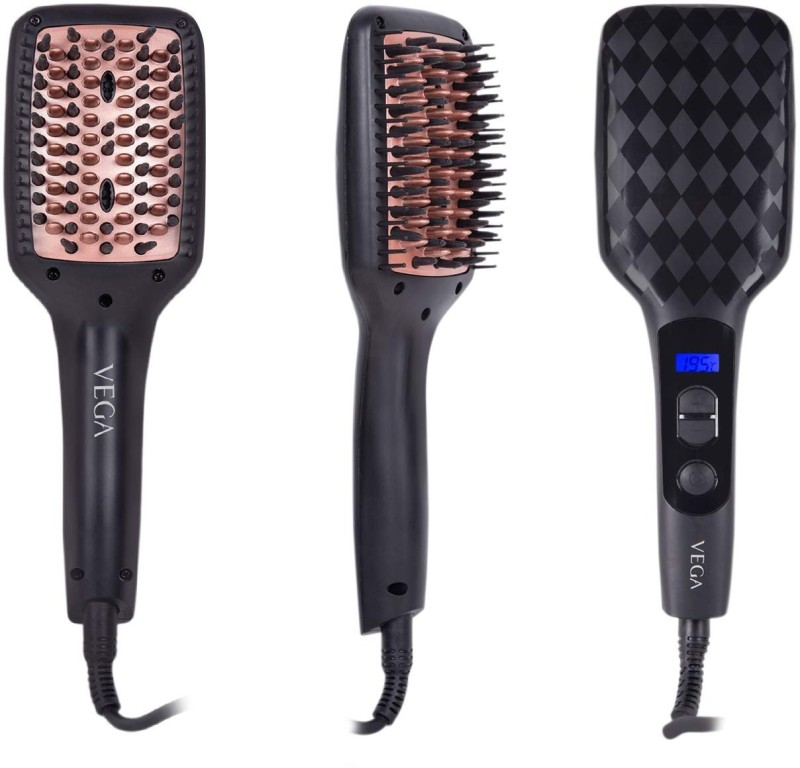 VEGA X-Look Paddle Straightening Brush VHSB-02 Hair Straightener(Black)