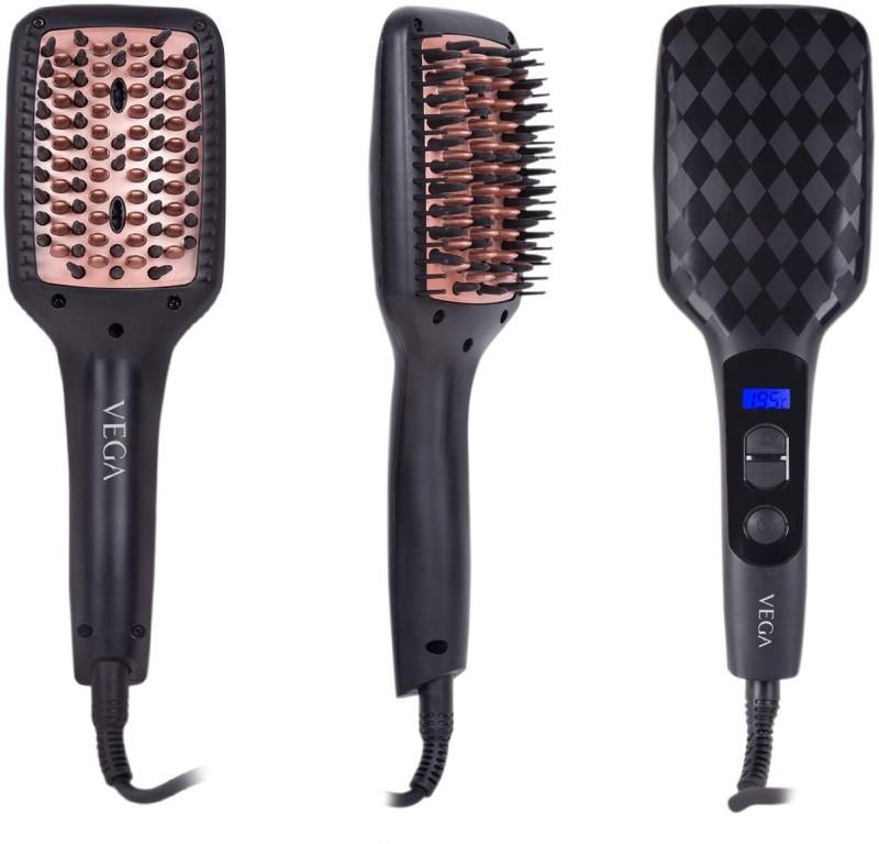 VEGA X-Look Paddle Straightening Brush VHSB-02 Hair Straightener(Black)