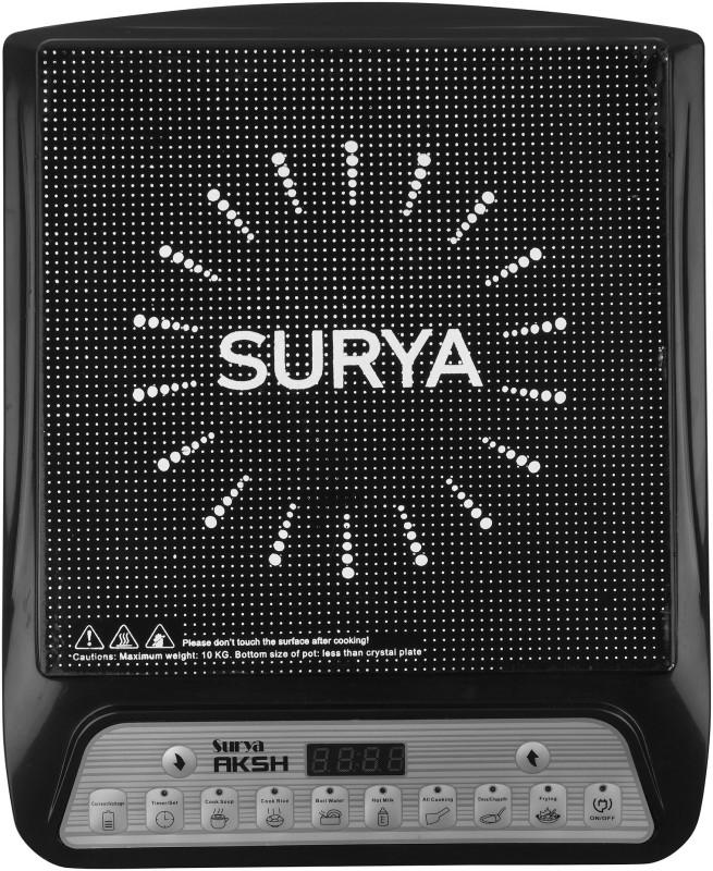 Surya Aksh A-8 Induction Cooktop(Black, Push Button)