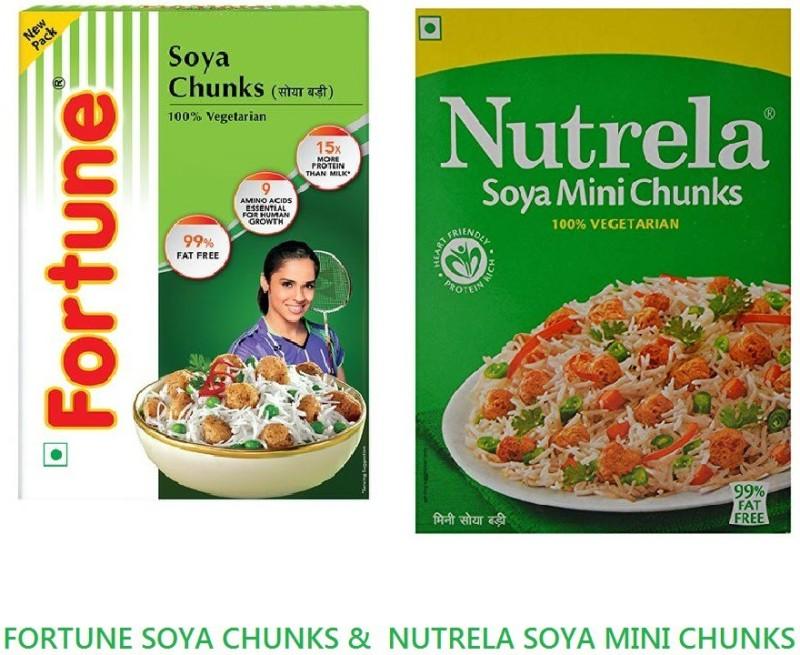 Fortune Soya Chunks(400 g, Pack of 2)