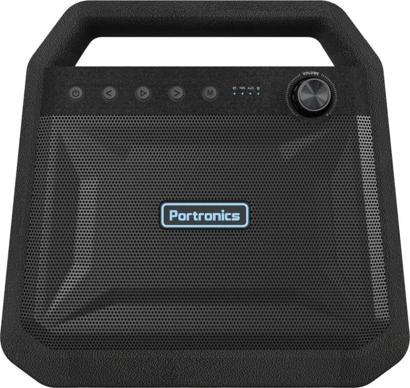 Portronics POR-549 ROAR 24 W Bluetooth Speaker(Black, Stereo Channel)