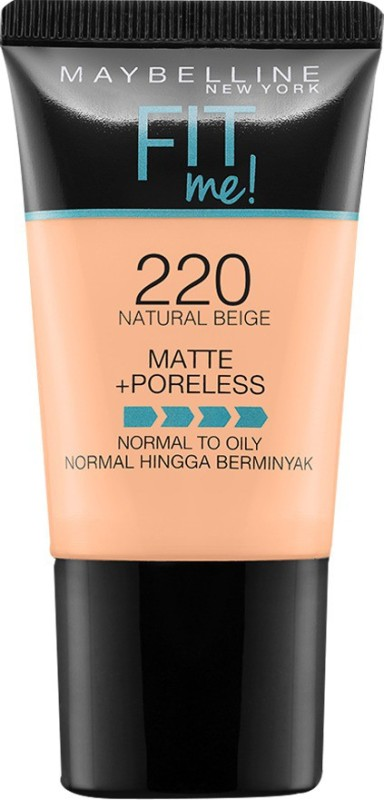 Maybelline Fit Me Matte+Poreless Normal To Oily Foundation(220 Natural Beige, 18 ml)