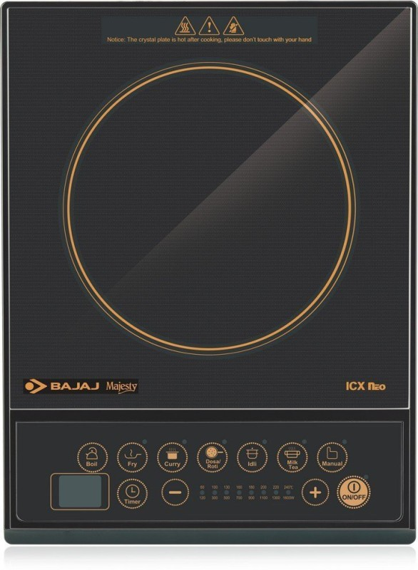 Bajaj o Induction Cooktop(Black, Push Button)