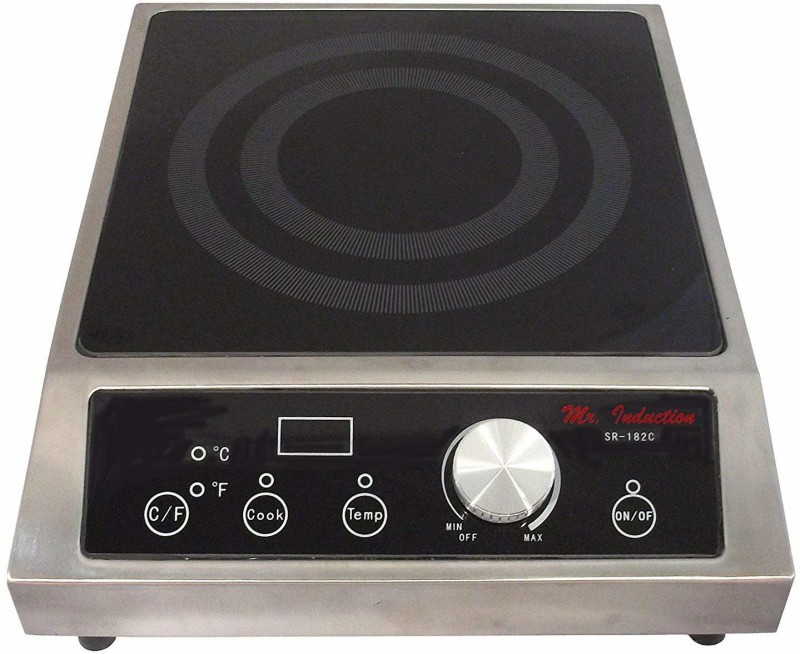 FROTH & FLAVOR 852369 Induction Cooktop(Silver, Push Button)