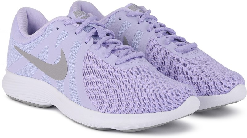 Nike Revolution 4 Running Shoes For Women(Purple)