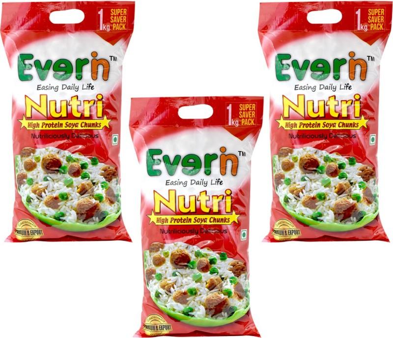 Everin Soya Chunks(3 kg, Pack of 3)