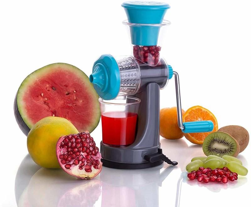 Floraware Fruit & Vegetable Nano Manual Juicer , Blue Plastic Hand Juicer(Blue Pack of 1)