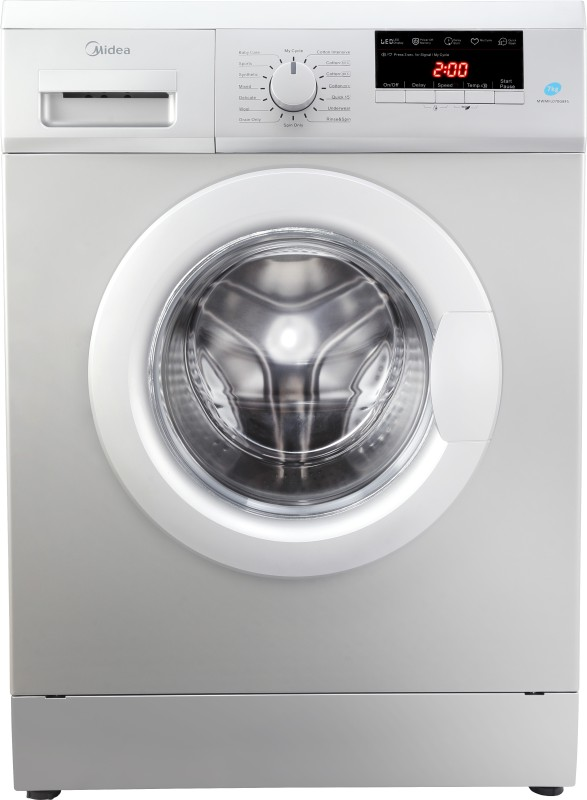 Midea 7 kg Garment Sterilization Fully Automatic Front Load with In-built Heater Grey(MWMFL070GBFS)