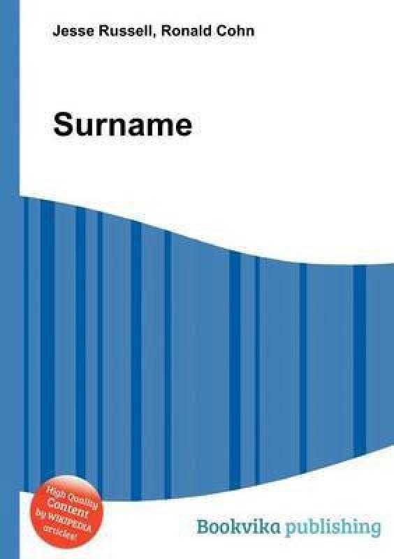 Surname(English, Paperback, unknown)