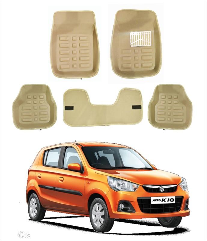 Trigcars PVC 3D Mat For Maruti Suzuki Alto K10(Beige)