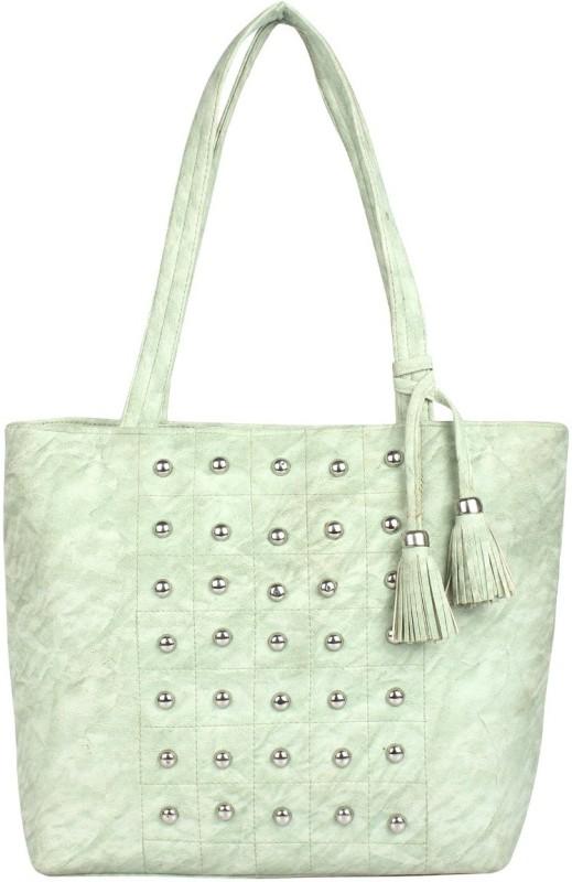 HZB Collection Women Green Handbag