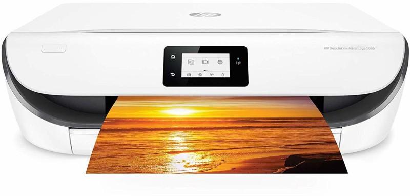 HP 5085 Multi-function Color Printer(White,Black)