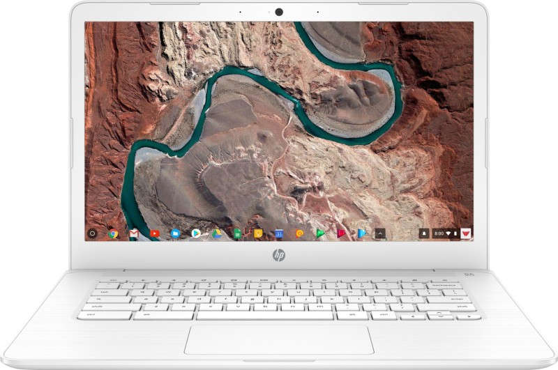 HP Celeron Dual Core - (4 GB/64 GB EMMC Storage/Chrome OS) 14-ca003TU Chromebook(14 inch, Snow White, 1.53 kg)