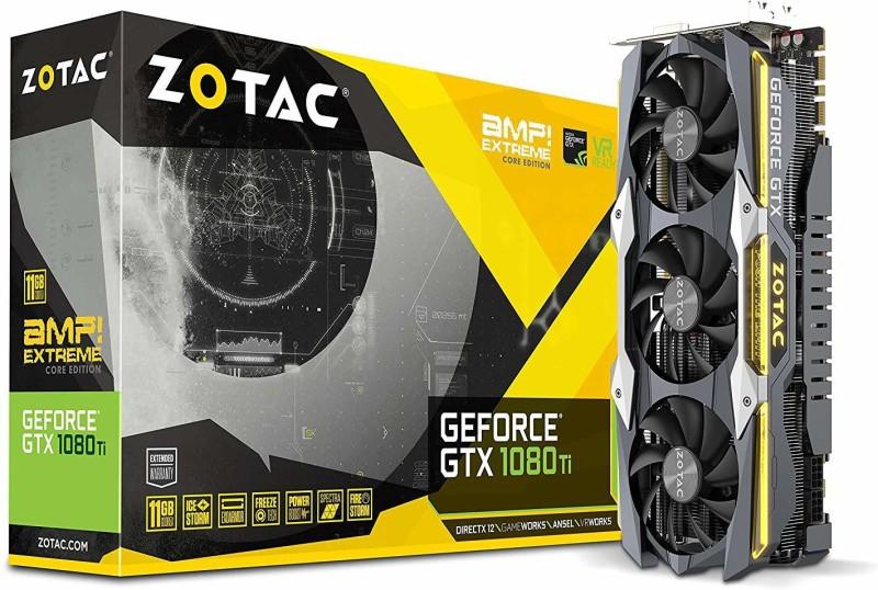 ZOTAC NVIDIA GeForce GTX 1080 Ti AMP 4918309 11 GB GDDR5 Graphics Card