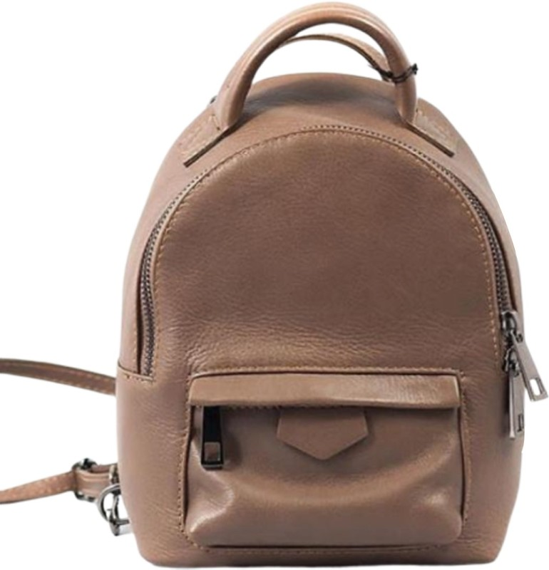 Elegant Leather ELE07 Backpack(Beige, 12 L)
