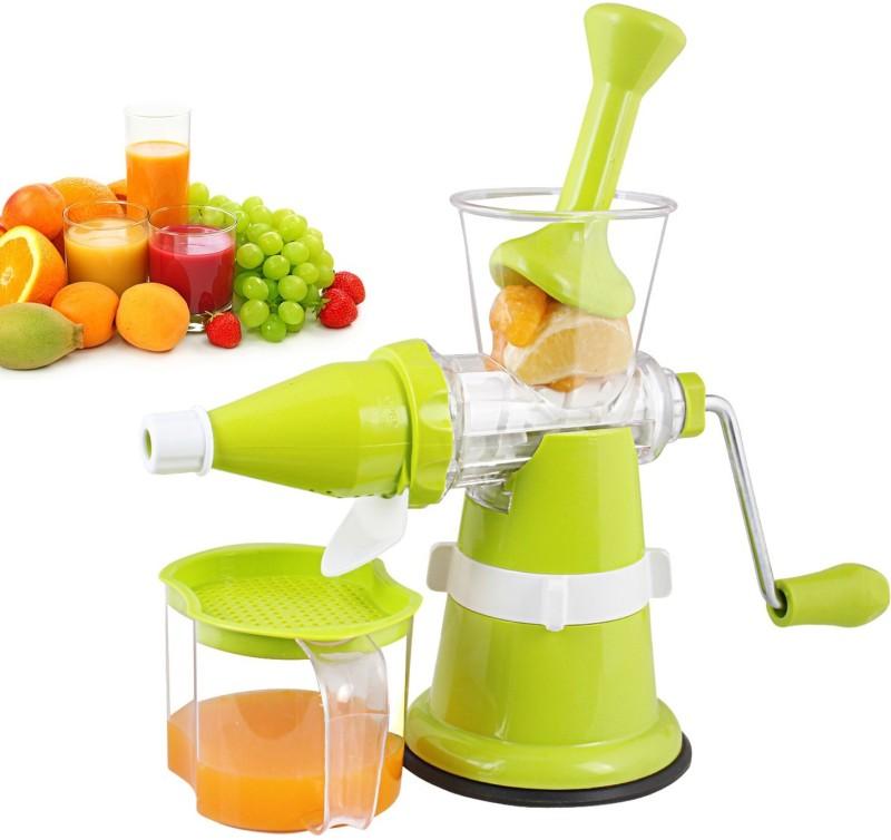 Floraware Modern Fruit & Vegetable with Steel Handle, Green Plastic Hand Juicer(Green)