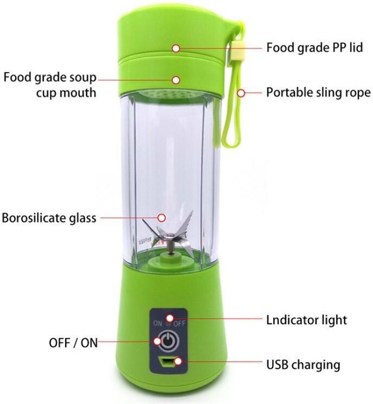 Max 1 Portable Electric Fruit Juicer Maker 1 Juicer(Green, 1 Jar)