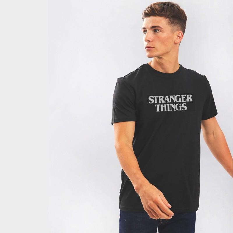 Nerroo Graphic Print Men Round Neck Black T-Shirt