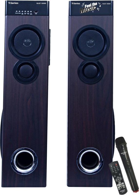 T-Series Blast 10500X Multimedia Tower Speakers System (Black) Bluetooth Home Theatre(Black, 2.0 Channel)