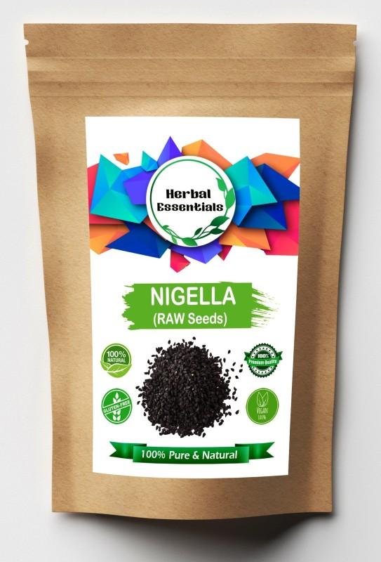 Herbal Essentials Nigella Seeds / Kalonji (Black) for Calcium   Vitamin A   Vitamin C   Vitamin E   Protein   Iron   Folic acid and Dietary Fibre (RAW ) Seed(100 per packet)