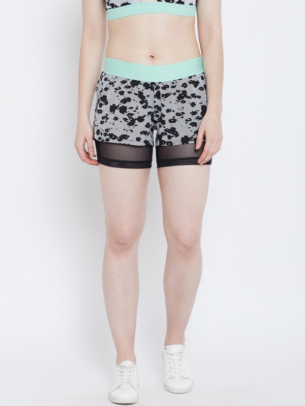 ADIDAS Printed Women Grey Sports Shorts