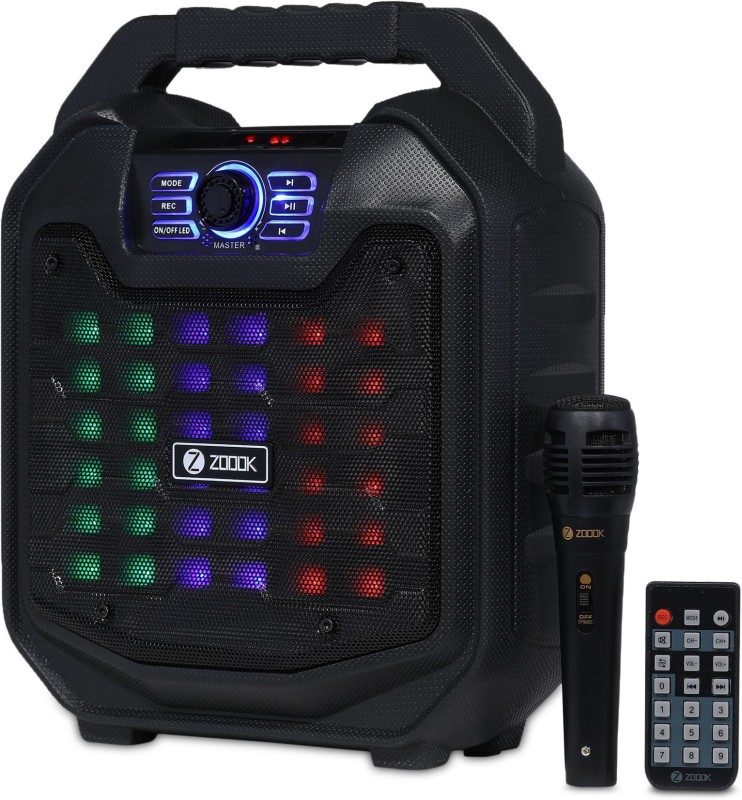 Zoook ROCKER THUNDER 2 Karaoke-One Click Recording 30 W Bluetooth Party Speaker(Black, Stereo Channel)