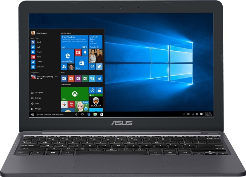Asus VivoBook E12 Celeron Dual Core - (2 GB/32 GB EMMC Storage/Windows 10 Home) E203MA-FD014T Thin and Light Laptop(11.6 inch, Star Grey, 0.99 kg)