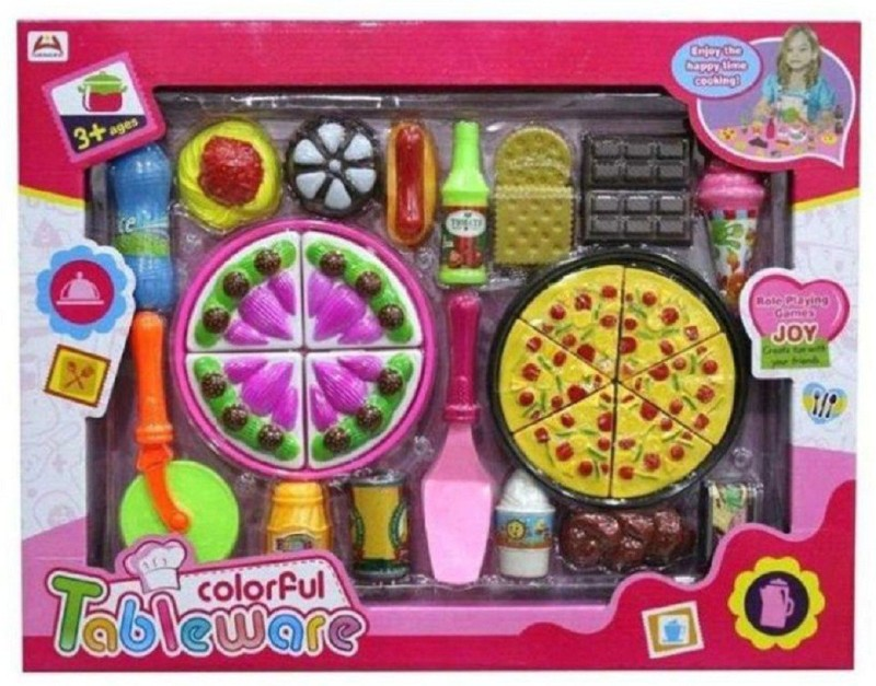 Ruhanenterprise Pizza Set Toys For Kids Kitchen Diy Pretend Play